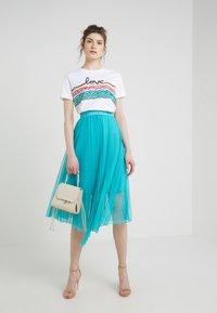 Patrizia Pepe - GONNA SKIRT - A-line skirt - turquoise - 1