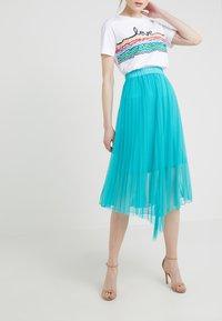 Patrizia Pepe - GONNA SKIRT - A-line skirt - turquoise - 0
