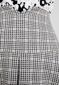 Patrizia Pepe - GONNA SKIRT - Mini skirt - black/ivory