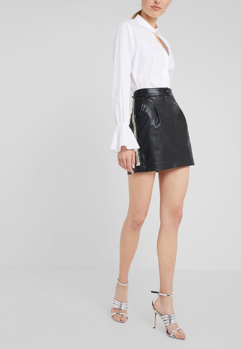 Patrizia Pepe - GONNA SKIRT - Minifalda - nero