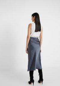 Patrizia Pepe - GONNA SKIRT - A-snit nederdel/ A-formede nederdele - lava grey - 2