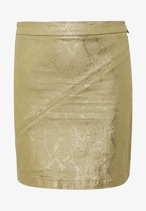 GONNA SKIRT - Mini skirt - gold snake