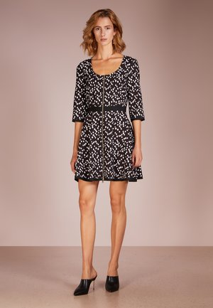 ABITO DRESS - Korte jurk - black pois