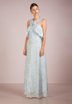 Suknia balowa - sky/gold pois