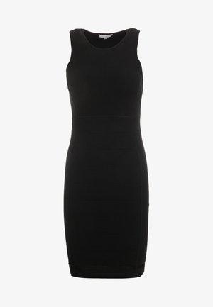 Stickad klänning - nero