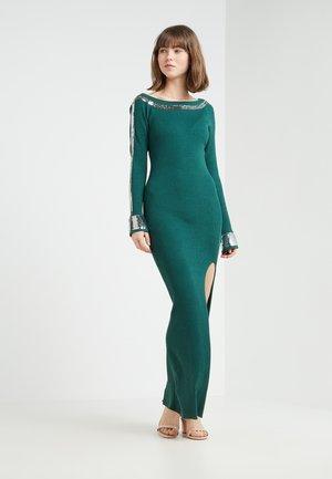 Sukienka dzianinowa - self green/silver