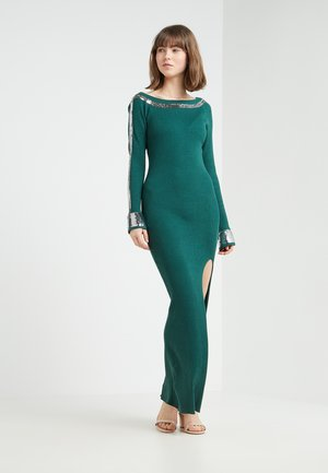 Strikket kjole - self green/silver