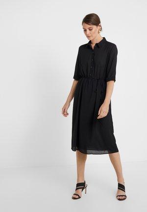 Košilové šaty - nero