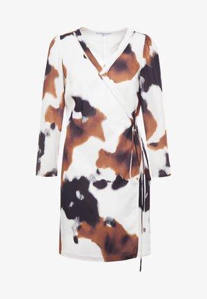 Korte jurk - white/brown