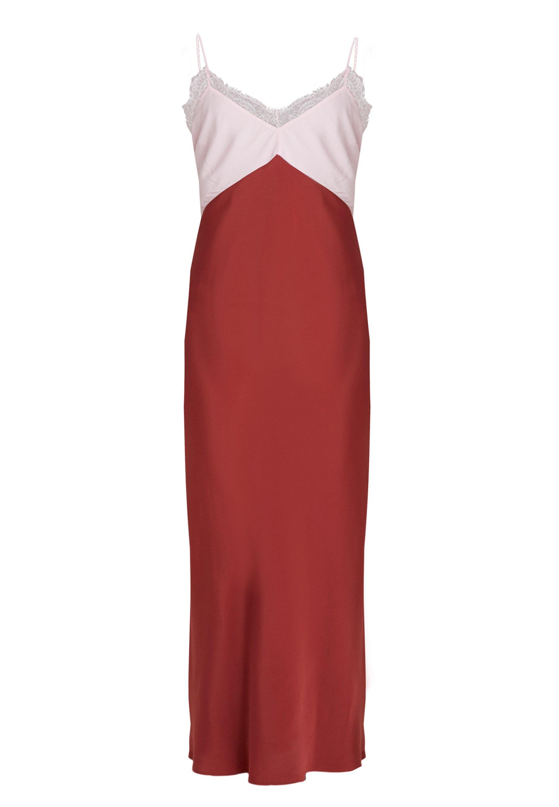 Patrizia Pepe ABITO DRESS - Długa sukienka - peony/rosewood
