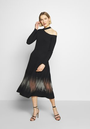 ABITO DRESS - Stickad klänning - nero