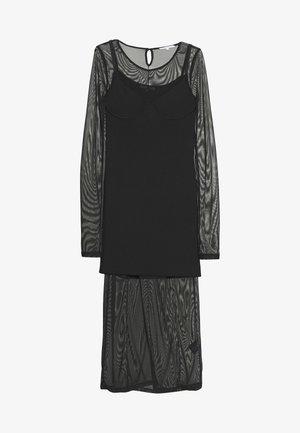 ABITO DRESS - Stickad klänning - nero