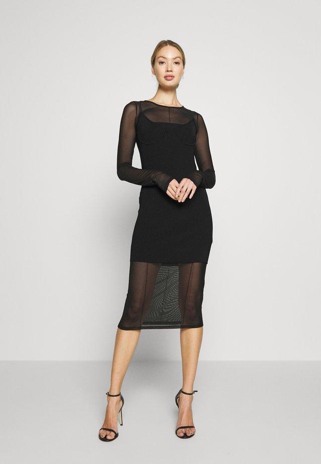 ABITO DRESS - Vestido de punto - nero