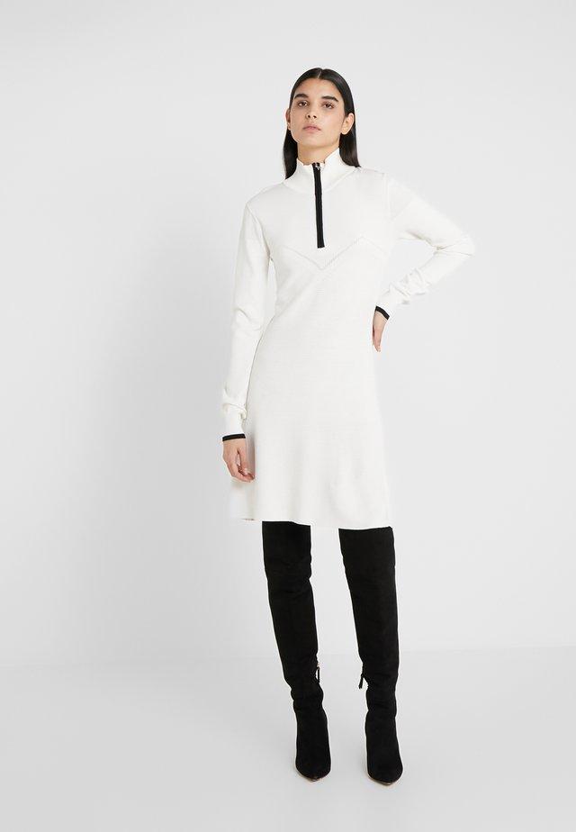 ABITO DRESS - Vestido de punto - bianco/nero