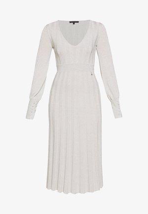 ABITO DRESS - Robe pull - statue white lurex