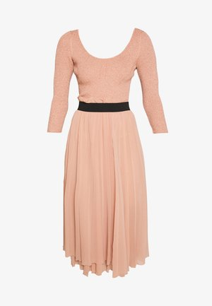 DRESS 2-IN-1 - A-line skirt - nude