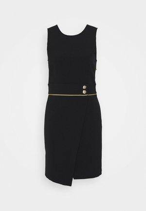 GOLD BUTTON DRESS - Day dress - nero