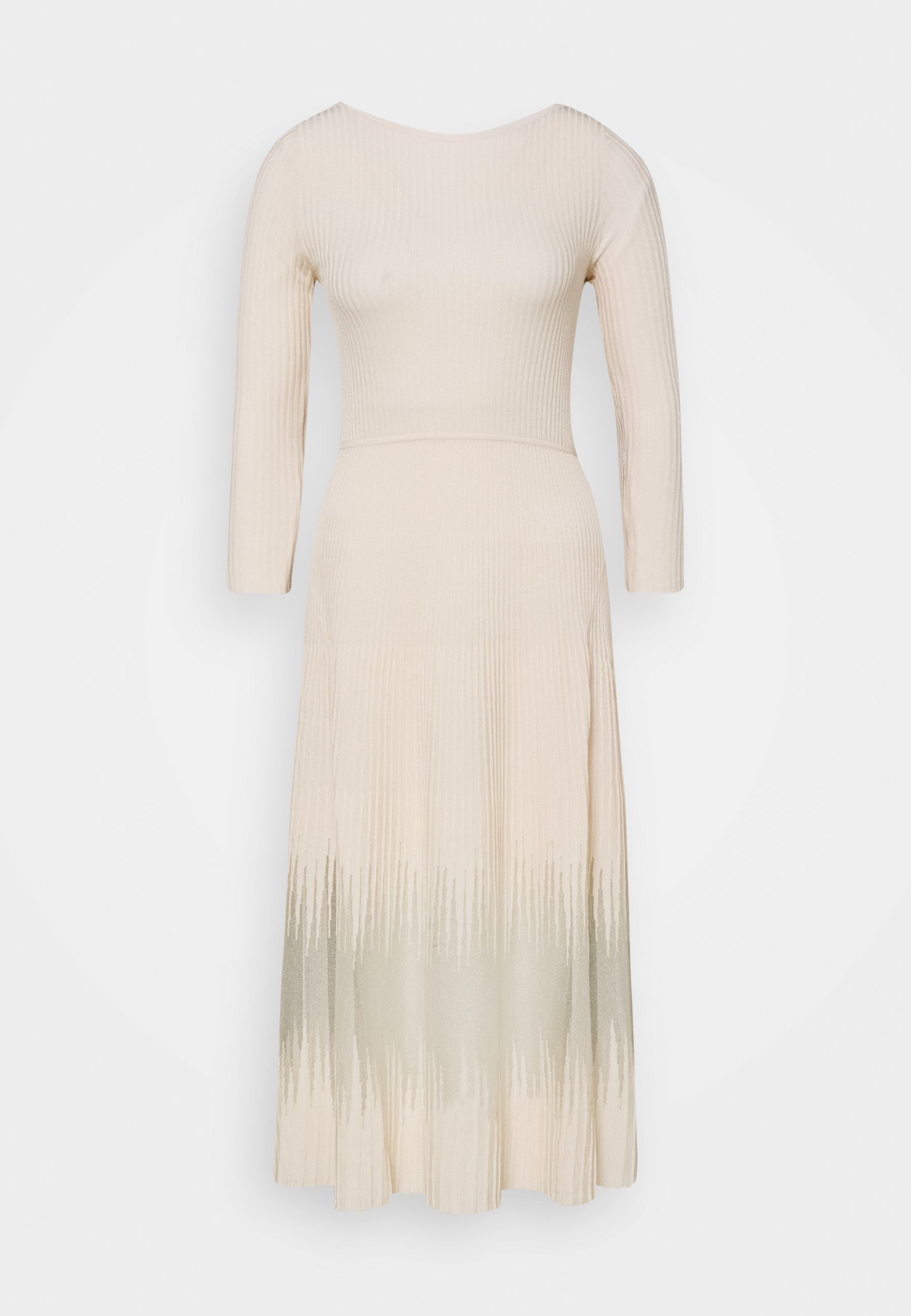 Patrizia Pepe DRESS SEE THROUGH - Strikkjoler - pure skin