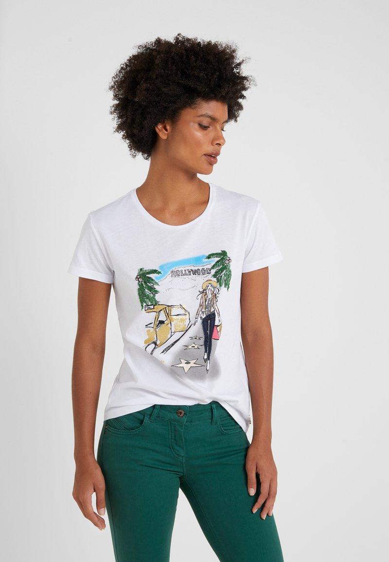 Patrizia Pepe - MAGLIA - T-shirt imprimé - bianco/losangeles
