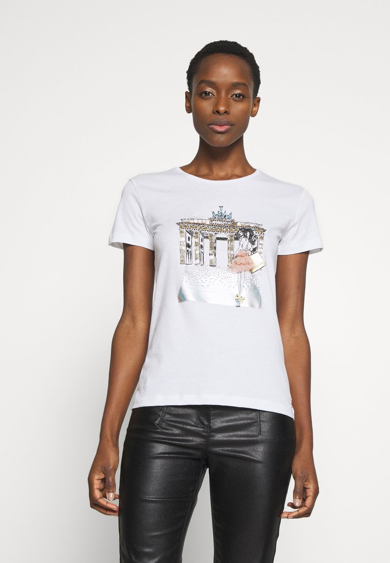 Patrizia Pepe - MAGLIA - T-shirt print - bianco