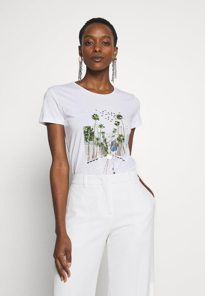 Patrizia Pepe - MAGLIA - Print T-shirt - bianco