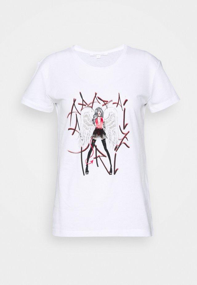 GITARRE - Camiseta estampada - bianco