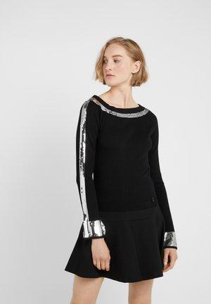 Jersey de punto - nero/silver
