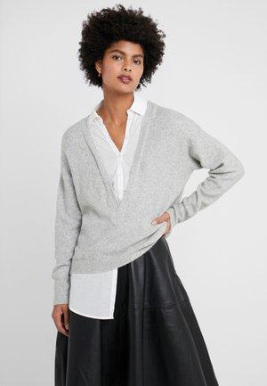 MAGLIA - Sweter - grigio/bianco