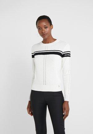 MAGLIA - Sweter - bianco/nero
