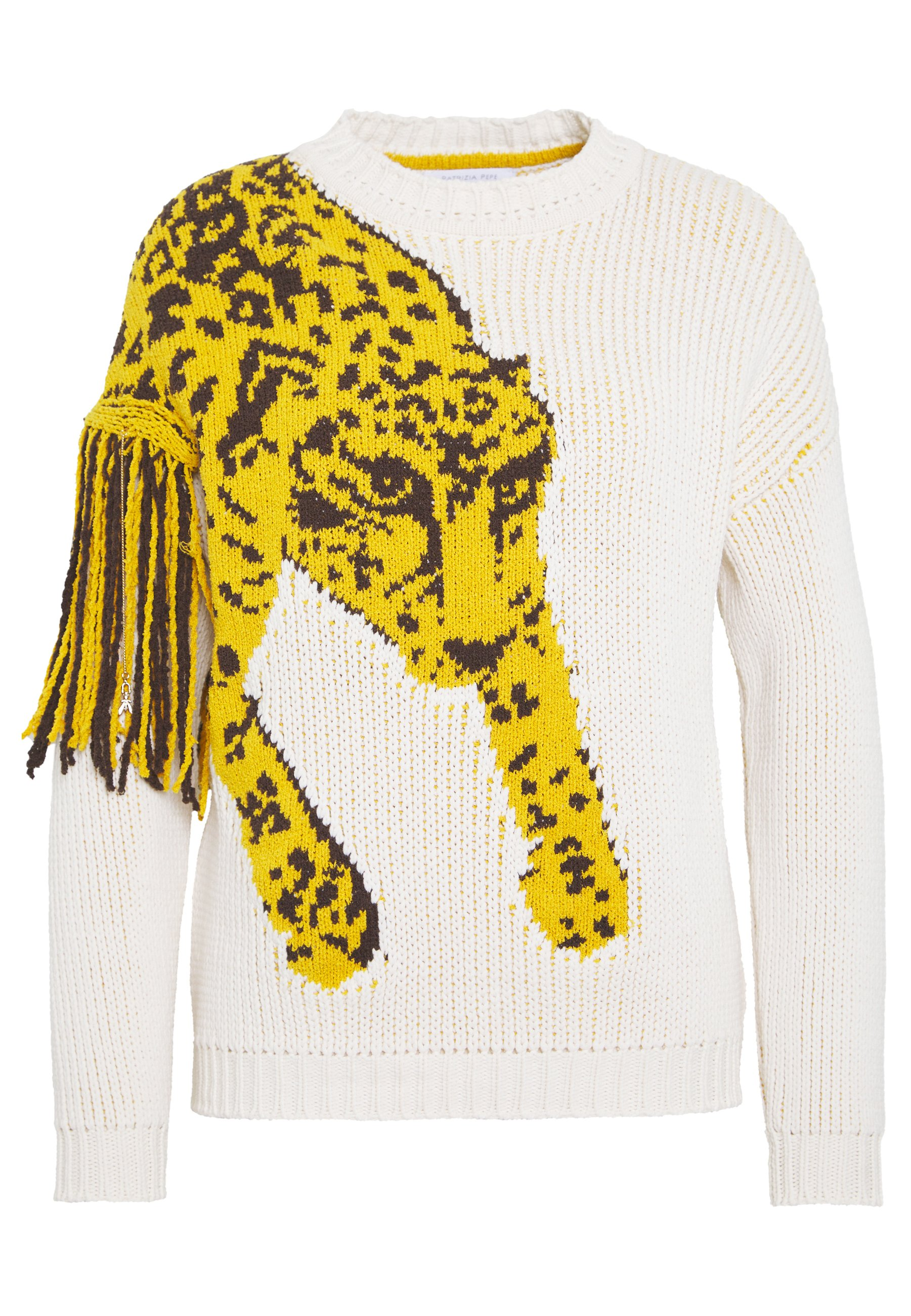 Patrizia Pepe MAGLIA - Sweter - ivory/leopard