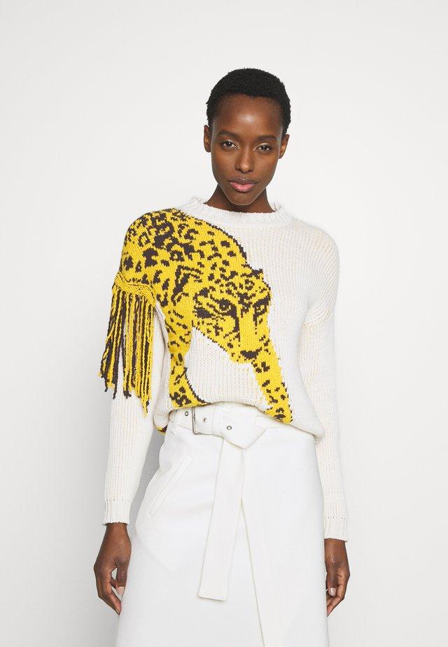 MAGLIA - Jersey de punto - ivory/leopard