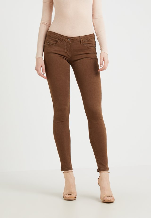 Jeans Skinny Fit - techno brown