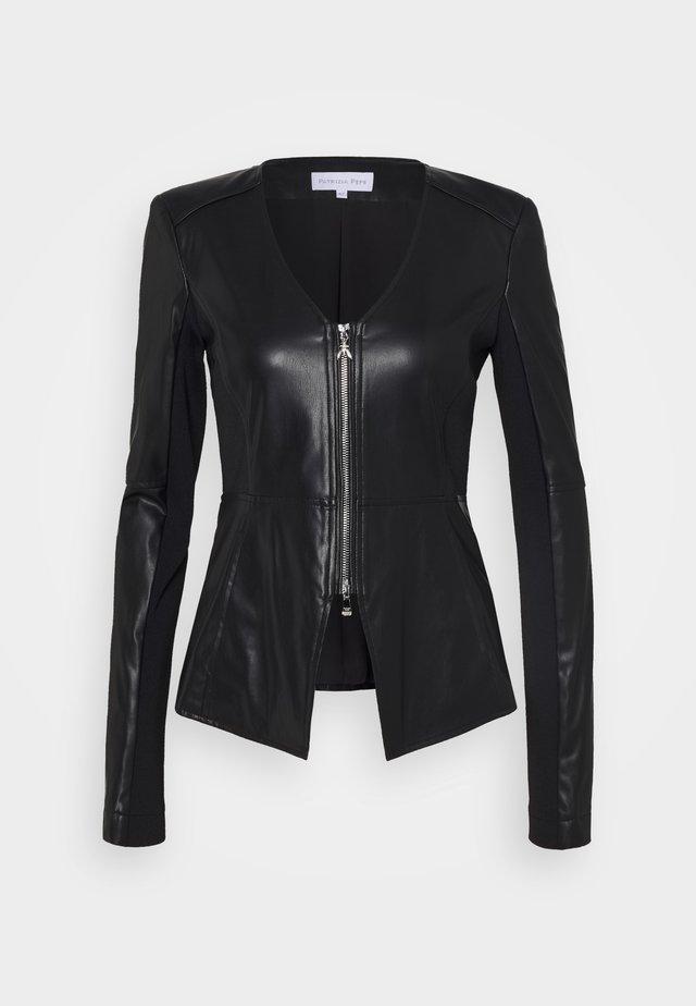 JACKET - Leather jacket - nero
