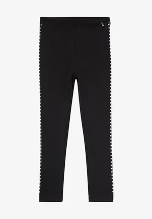 PANTALONE SLIM BORCHIE - Trousers - nero