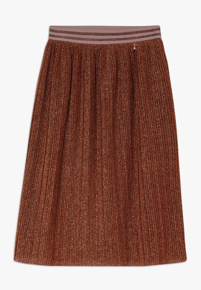 GONNA PLISSET - A-snit nederdel/ A-formede nederdele - brunito