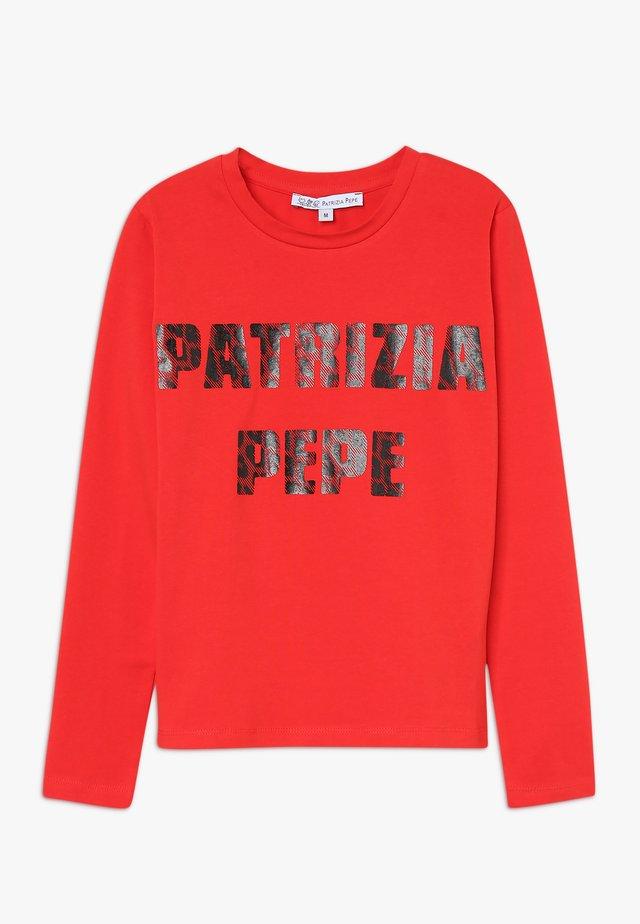 Langærmede T-shirts - rosso