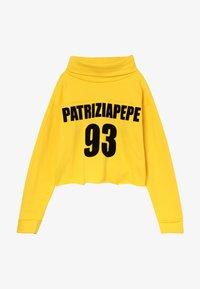 Patrizia Pepe - FELPA COLLO RISVOLTATO - Sudadera - giallo - 2