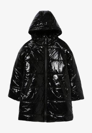 PIUMINO LUNGO LUCIDO - Zimní kabát - nero