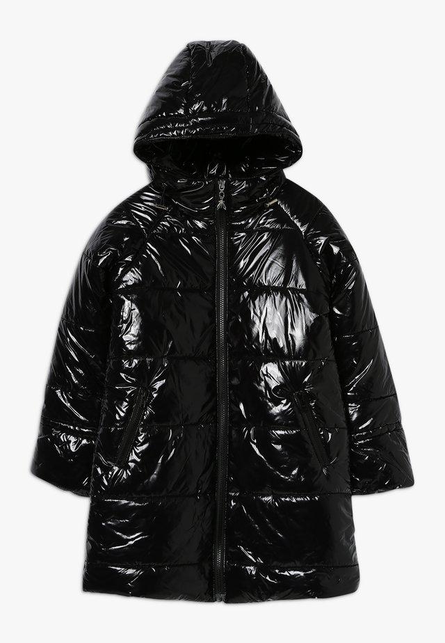 PIUMINO LUNGO LUCIDO - Cappotto invernale - nero