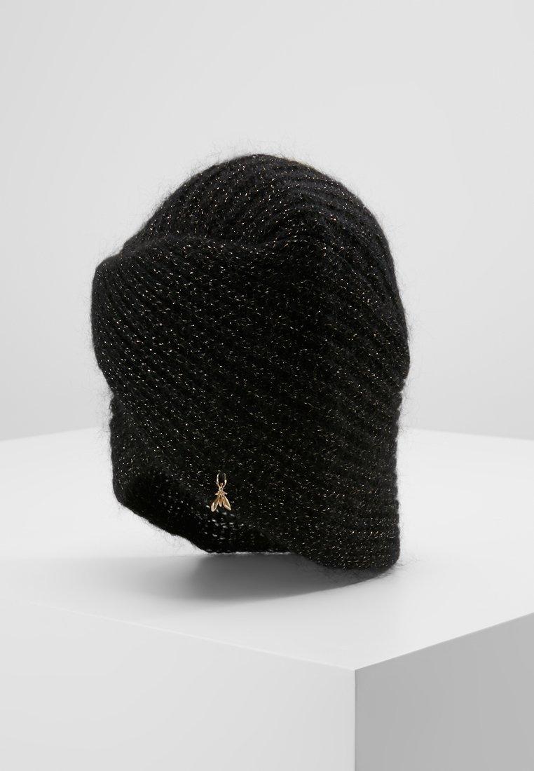 Patrizia Pepe - GLITTER HAT - Mütze - sparkly black gold