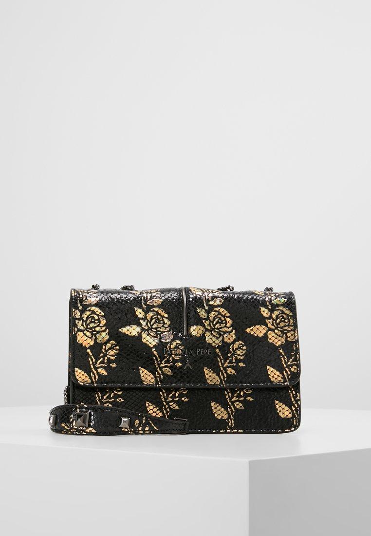Patrizia Pepe - SHOULDER BAG - Across body bag - black/bronze