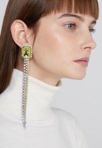 Patrizia Pepe - ORECCHINI EARRINGS - Örhänge - citrine/silver-coloured - 1