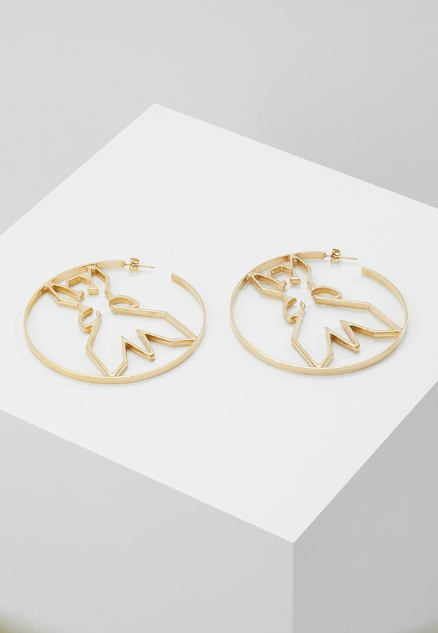 FLY ROUND - Earrings - gold-coloured