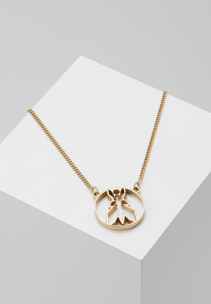 Patrizia Pepe - FLY ROUND NECKLACE - Necklace - gold-coloured