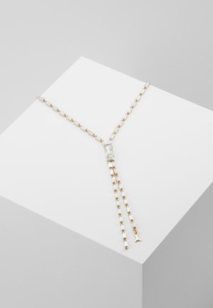 NECKLACE BAGUETTE STONES - Ketting - gold-coloured/crystal