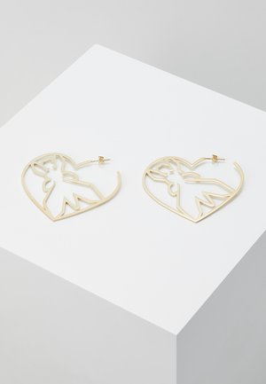 ORECCHINI CUORE CON FLY - Earrings - gold-coloured