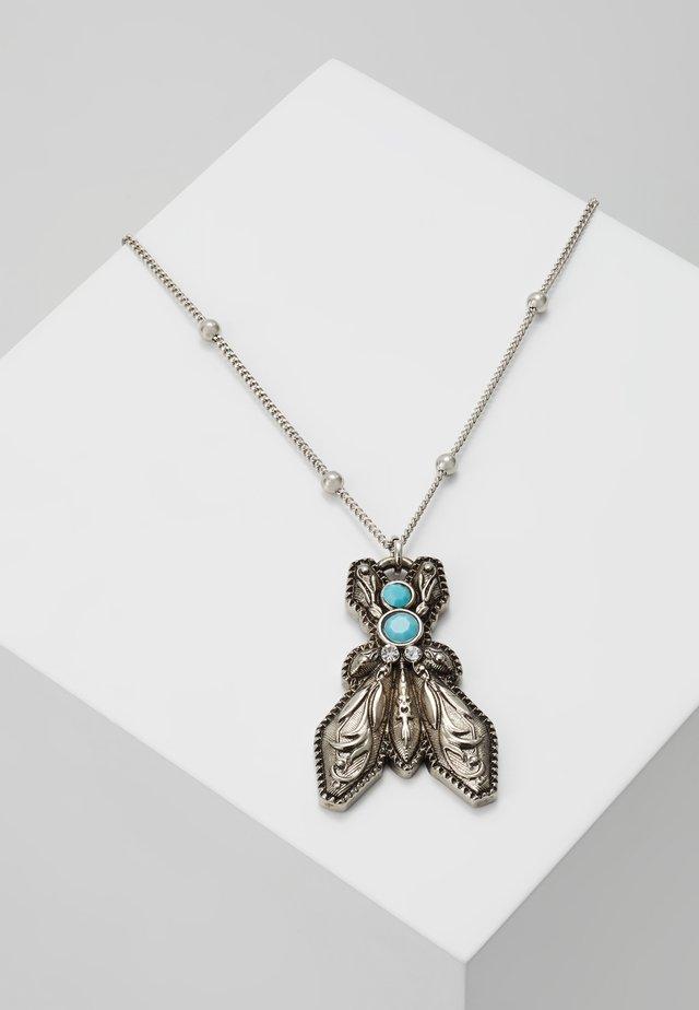 COLLANA CON PIETRE - Halsband - turquoise/silver-coloured