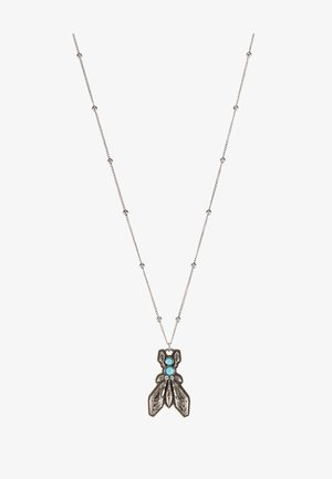 COLLANA CON PIETRE - Halskette - turquoise/silver-coloured