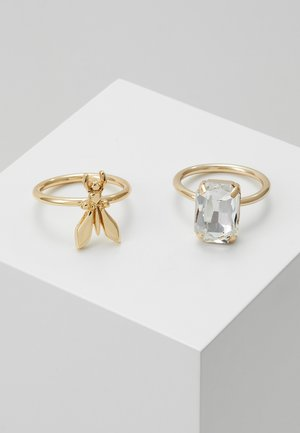 ANELLO CON PIETRE ZALANDO SPECIAL 2 PACK - Bague - gold-coloured