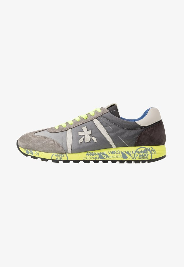 LUCY  - Trainers - grey/neon yellow